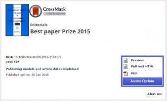 Dr. Nguyen Viet Cuong wins Best Paper Prize for 2015